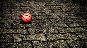 Preview wallpaper ball, road, stone, surface