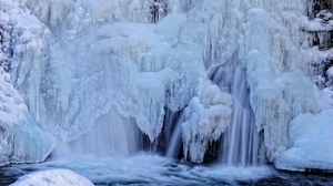 Preview wallpaper ice, river, stream, waterfall